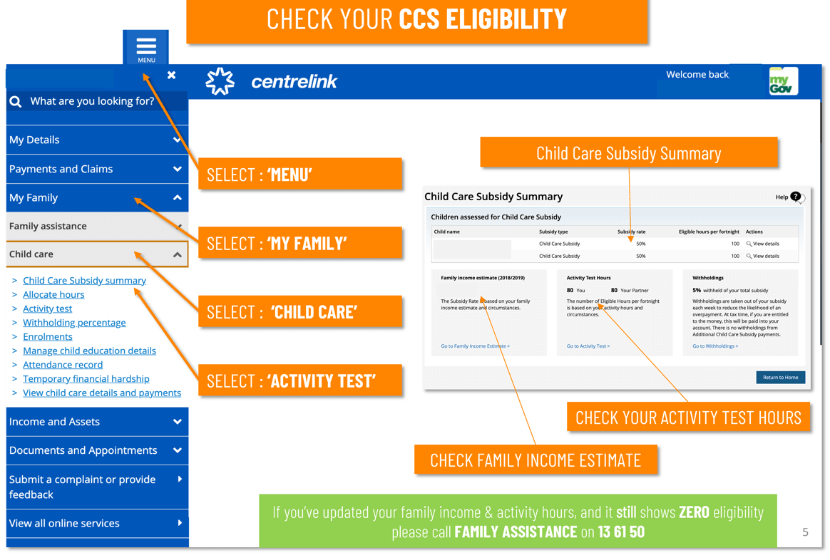 Check your CCS eligibility