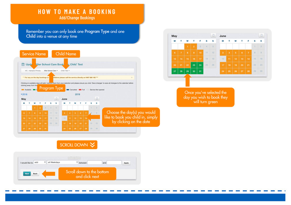 How to make a booking
